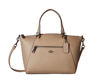 COACH Women's Polished Pebbled Leather Prairie Satchel Dk/Stone Handbag