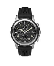 Fossil Men's FS4613 Black Silicone Quartz Watch with Black Dial