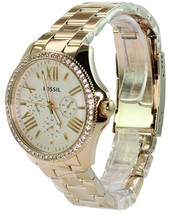Fossil Women's AM4482 Cecile Analog Display Analog Quartz Gold Watch [Watch] ...