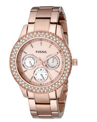 Fossil Women's ES3003 Stainless Steel Analog Pink Dial Watch [Watch] Fossil