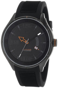 Tommy Hilfiger  Men's 1790803 Sport Black IP Black Silicon  Watch [Watch] Tom...