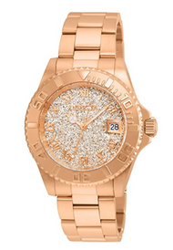 Invicta Women's 'Angel' Quartz Stainless Steel Casual Watch, Color:Rose Gold-Toned (Model: 22708)