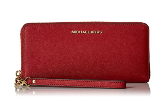 5edca663aff2d ... Michael Kors Jet Set Travel Leather Continental Wallet- Burnt Red …  32S5GTVE9L-361. Image 1