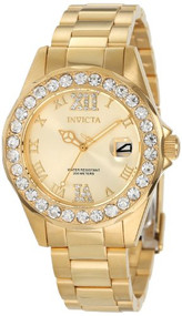 Invicta Women's 15252 Pro Diver Gold Dial Gold plated Stainless Steel Watch I...