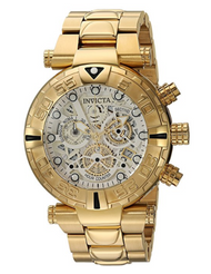 Invicta Men's 24990 Subaqua Quartz Chronograph Silver, Gold Dial Watch