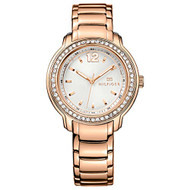 Jacob Time 1781468 Tommy Hilfiger Rose Gold-Tone Ladies Watch - Beige Dial