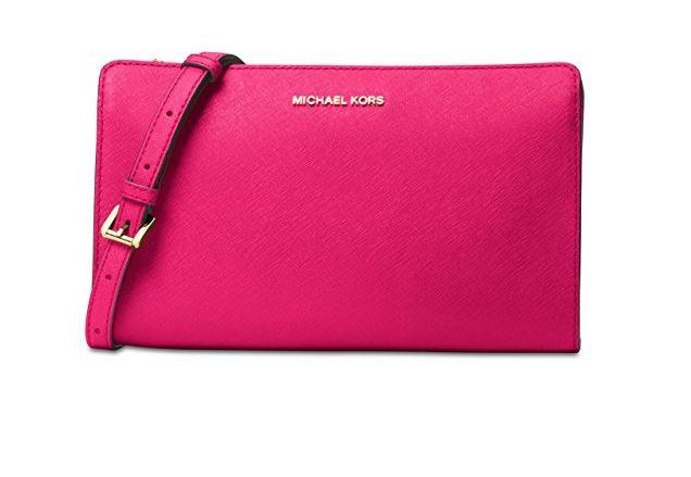 31338cfe0a8e42 ... Michael Kors Women's Clutch Crossbody (Ultra Pink) 32F6GTVC3L-564.  Image 1