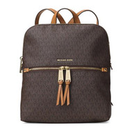 MICHAEL Michael Kors Rhea Medium Slim Backpack (Signature Brown)