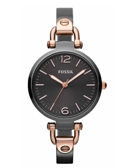 3e1c6d11239 ... Fossil Georgia Three Hand Stainless Steel Watch - Smoke And Rose  Es3111. Image 1