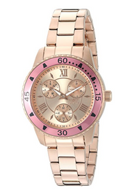 Invicta Women's 21774 Angel Quartz Chronograph Rose Gold Dial Watch