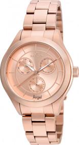 Invicta Women's 21695 Angel Quartz Chronograph Rose Gold Dial Watch