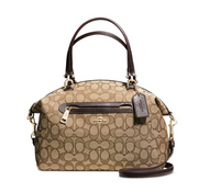COACH Women's Signature Prairie Satchel Li/Khaki/Brown One Size 58875-LIC7C