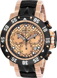 Invicta Men's 23806 Subaqua Quartz Chronograph Rose Gold Dial Watch
