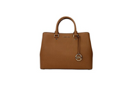 MICHAEL Michael Kors Savannah Large Saffiano Leather Satchel (Acorn) 30S6GS7S3L-532