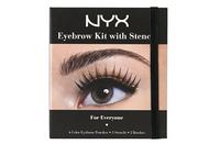 NYX Professional Makeup Eyebrow Kit Set With Stencil, 0.7 Oz