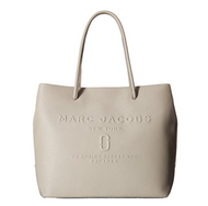 Marc Jacobs Women's Logo Shopper East/West Tote Stone Grey One Size  M0011046-027
