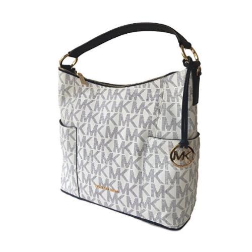 84570b820abb ... Michael Kors Anita Large Convertible Shoulder Bag Navy White  35H7GA8L7B. Image 1