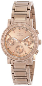 Invicta Women's 14874 Wildflower Rose Gold Dial 18k Rose Gold Ion-Plated Stai...