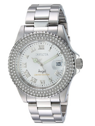 Invicta Women's Quartz Stainless Steel Casual Watch, Color:Silver-Toned (Model: 24613) …