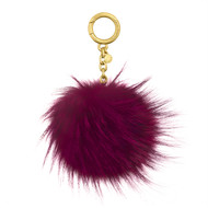 MICHAEL KORS LARGE DYED FOX FUR POM POM KEY CHAIN 32F6GKCK3F-564