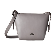 COACH Women's Small Dufflette in Natural Calf Leather Dk/Heather Grey One Size 21377-DKHGR