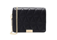 MICHAEL Michael Kors Women's Quilted Leather Clutch Bag One Size Black 30H7GJ4C2T-001