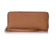 Michael Kors Women's Jet Set Travel Leather Continental Wallet Wristlet - Acorn 32S5GTVE9L-532