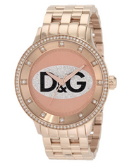 D&G Dolce & Gabbana Women's DW0847 Prime Time Triple Rose Gold D&G Logo Watch