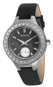 Invicta Women's 24555 Wildflower Quartz 3 Hand Black Dial Watch