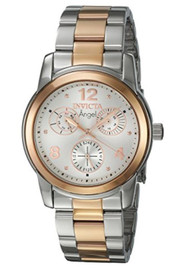 Invicta Angel Lady 38mm Stainlelss Steel Rose Gold SS Silver Dial VH68 Quartz Watch …