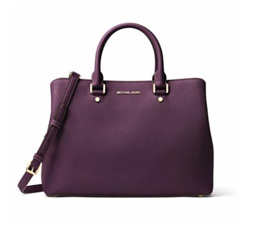 79b29837c03f9f ... Michael Kors Savannah Large Saffiano Leather Satchel - Purple -  30S6GS7S3L-599. Image 1