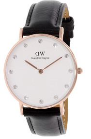 Daniel Wellington Women's 0951DW Classy Sheffield Analog Display Quartz Black Watch