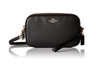 Coach Pebbled Crossbody Clutch, Light Gold/Black 65547-LIBLK