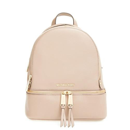 129804fed749 ... Michael Kors Rhea Zip Small Leather BackPack 30S5GEZB1L-187. Image 1