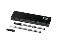 Montblanc Rollerball LeGrand Refills (B) Mystery Black 113840 / Pen Refills for Meisterstück LeGrand Rollerball Pens with a Broad Tip / 2 x Black Pen Cartridges