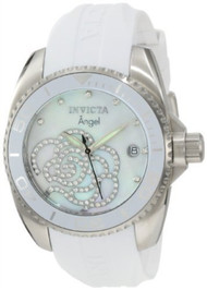 Invicta Women's 0486 Angel Collection Stainless Steel Cubic Zirconia-Accent...