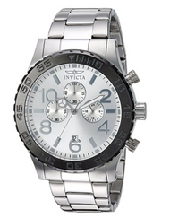 Invicta Men's 'Specialty' Quartz Stainless Steel Casual Watch, Color:Silver-Toned (Model: 15159)
