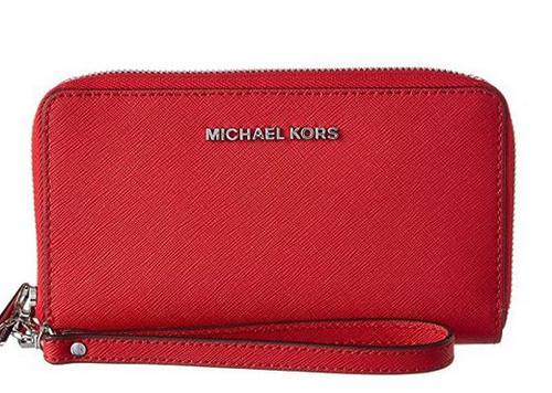 ffd9a3569c33af ... Michael Michael Kors Jet Set Large Leather Phone Case 32H4STVE9L-204.  Image 1