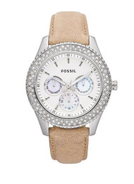Fossil Stella Multifunction Leather Watch - Sand Es2997