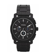 Fossil Men's FS4552 Black Stainless Steel Bracelet Black Analog Dial Chronogr...