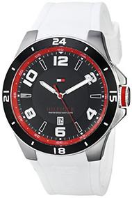 Tommy Hilfiger Men's 1790864 Sport Bezel and Silicon Strap Watch