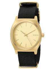 Nixon Men's 'Time Teller' Quartz Stainless Steel and Nylon Casual Watch, Color Gold-Toned (Model: A045513) …