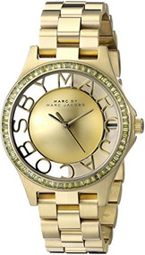 Marc by Marc Jacobs Women's MBM3338 Skeleton Gold-Tone Stainless Steel Bracelet Watch