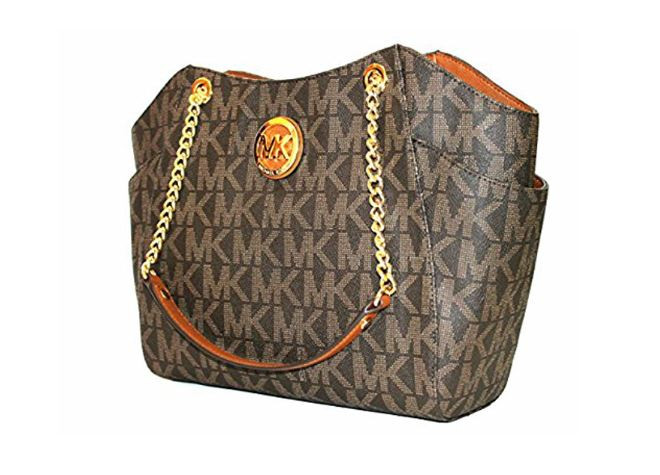 38586c366d63 ... MICHAEL Michael Kors Women s Jet Set Travel Large Chain Shoulder Tote  Printed Handbag (Brown Acorn) … Image 1