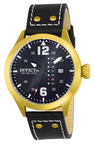 Invicta Men's 22184 I-Force Quartz 3 Hand Black Dial Watch