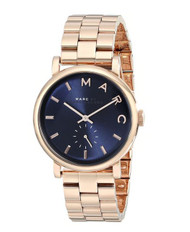 Marc by Marc Jacobs MBM3330 Ladies Navy Rose Gold Baker Watch [Watch]