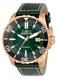 Invicta Men's 25644 Pro Diver Automatic 3 Hand Green Dial Watch