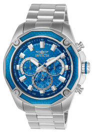 Invicta Men's 22804 Aviator Quartz Chronograph Blue Dial Watch
