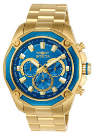 Invicta Men's 22805 Aviator Quartz Chronograph Blue Dial Watch