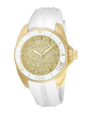 Invicta Women's 'Angel' Quartz Stainless Steel and Silicone Casual Watch, Color:White (Model: 22703) …